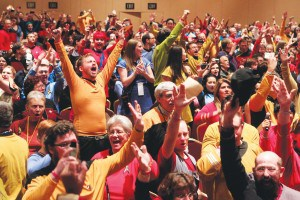 A room of Trekkies at an LA Convention