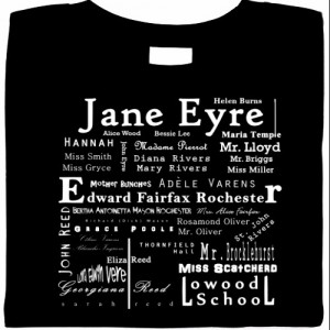 List of Jane Eyre Characters T-Shirt