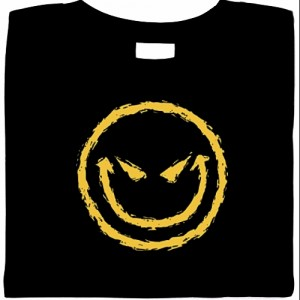 funny shirts, evil smily shirt