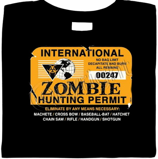 International Zombie Hunting Permit - Zombie Shirt