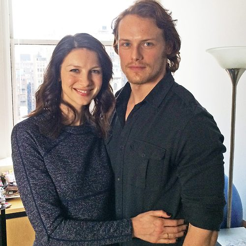 Caitriona Balfe with cool, Boyfriend Sam Heughan
