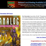 Analog Science Fiction and fact, analogsf.com, science fiction magazine