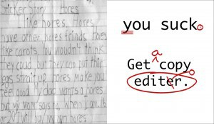 copy editor, writing advice