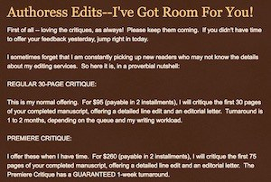 copy editor, miss snark's first victim