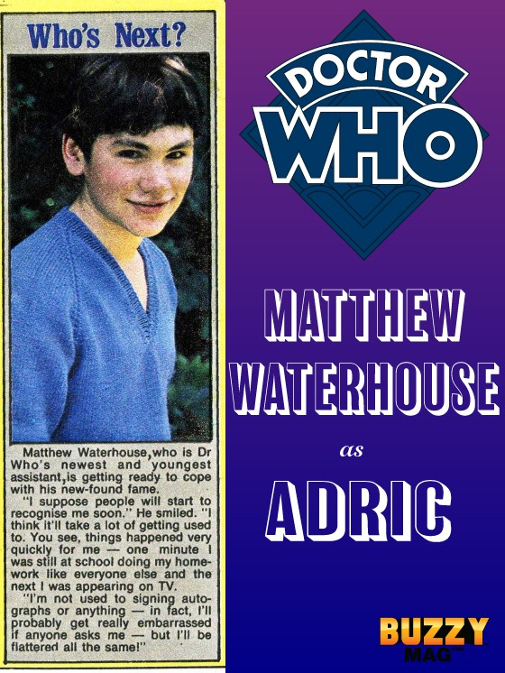 matthew waterhouse, doctor who adric, doctor who canceled