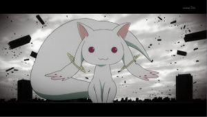 puella-magi-madoka-magica, kyubey the cat, 90s anime cartoons