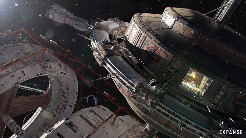the expanse spaceships, artistic set quality detail, syfy