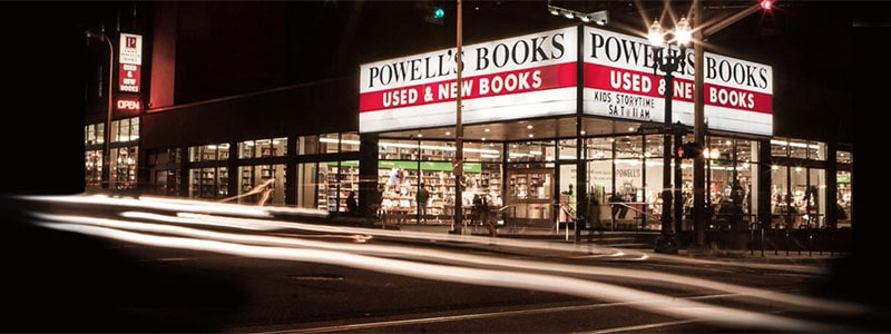 powells city of books, portland book stores